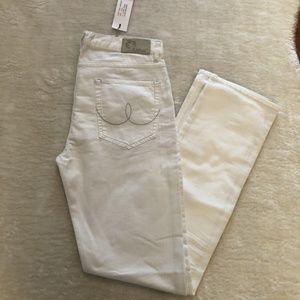 🆕 NWT Mens White Blue Blood Straight Leg Jean